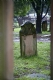 gravestones through arch