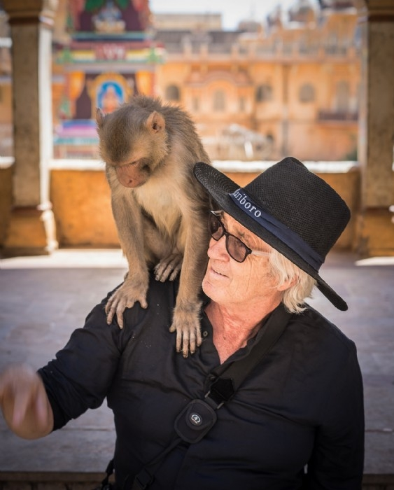 Me and me mate - Monkey Temple